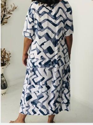 Image of Sarah Wave Sleeve Linen Cotton Dress