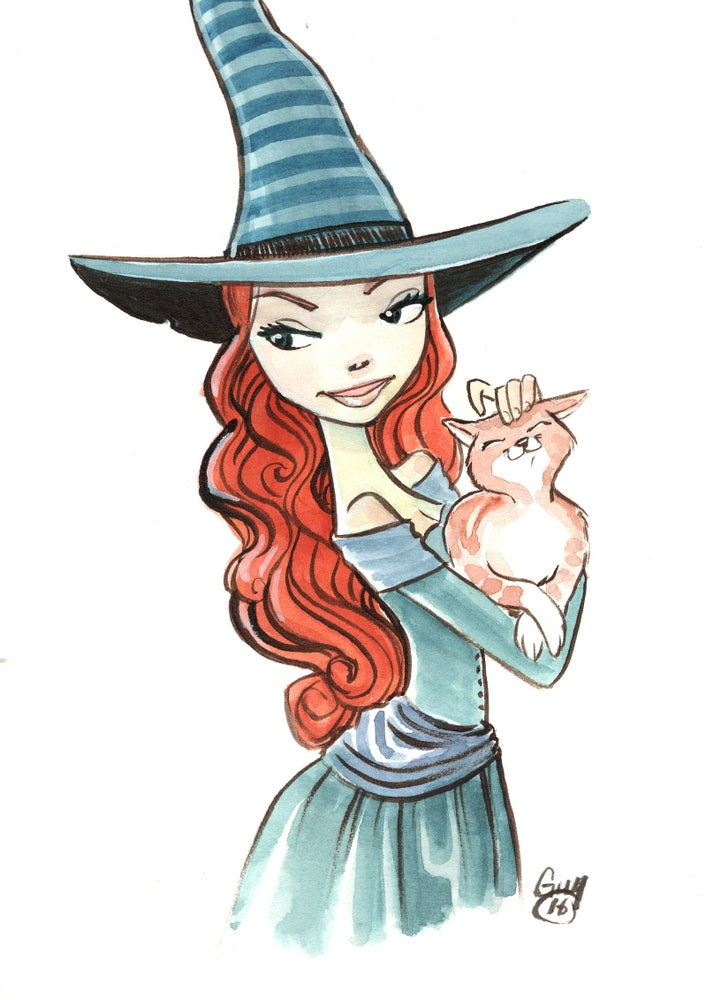 Image of Redhead Witch (6x8)