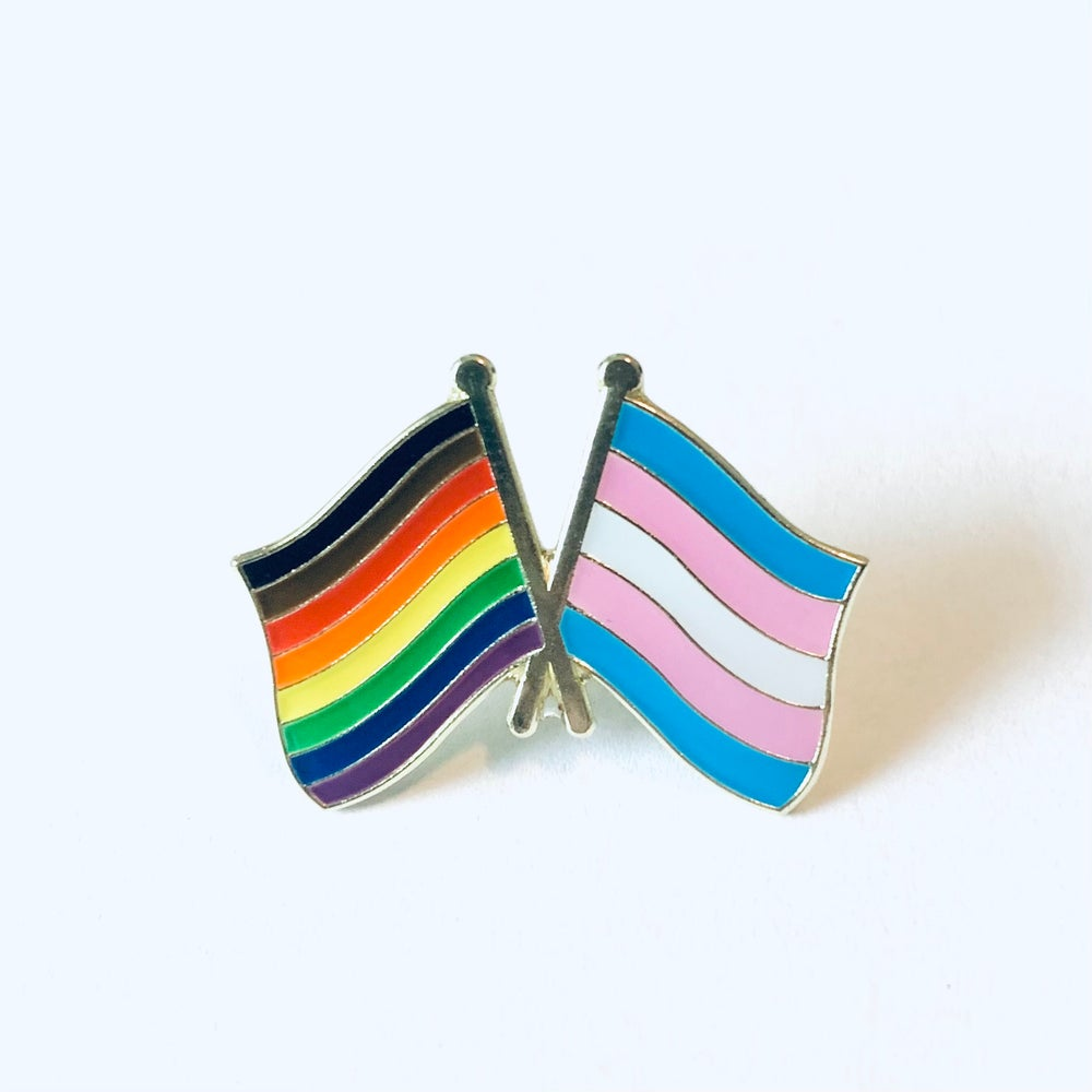 Image of Inclusive Pride + Trans Flag Pin