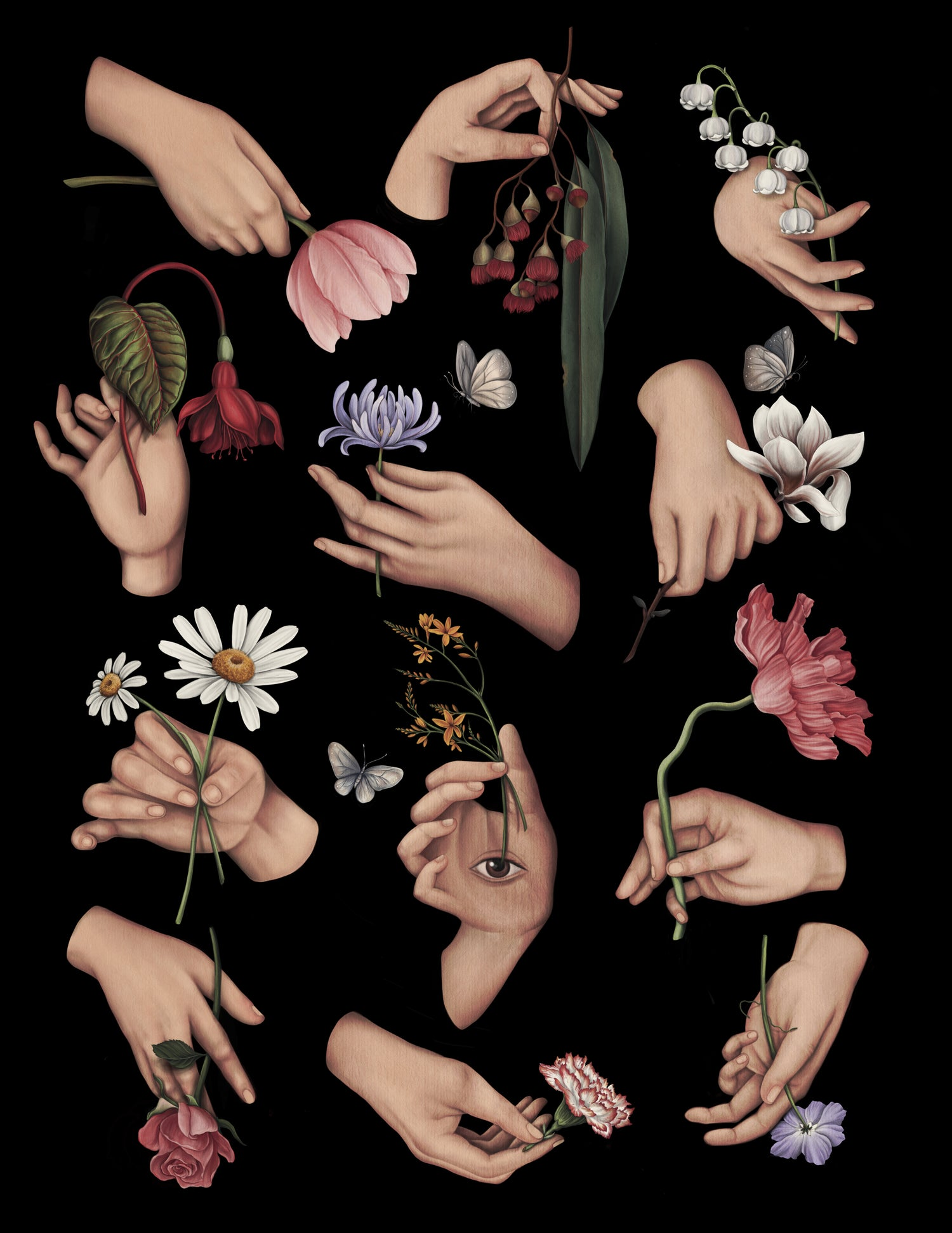 12 ways of holding a flower