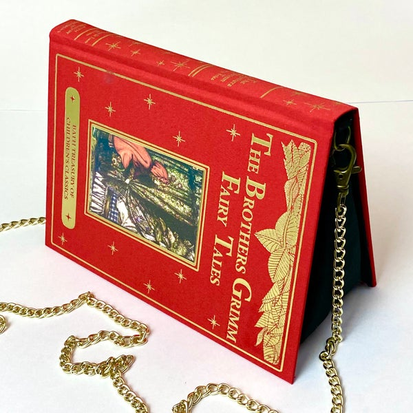 Image of The Brothers Grimm Fairytales, Red Book Purse