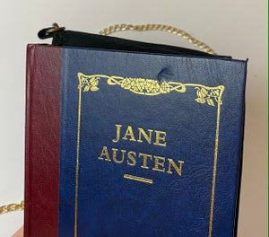 Image of Jane Austen Book Purse, Pride and Prejudice, Northanger Abbey, Persuasion