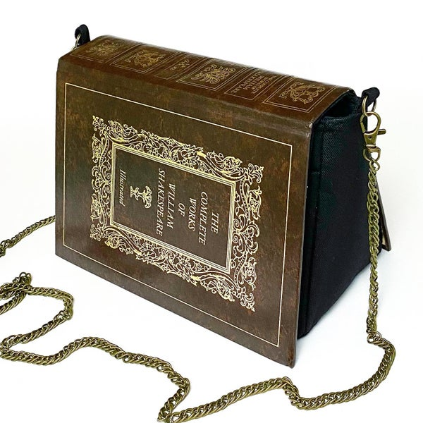 Image of Shakespeare, Brown Book Purse