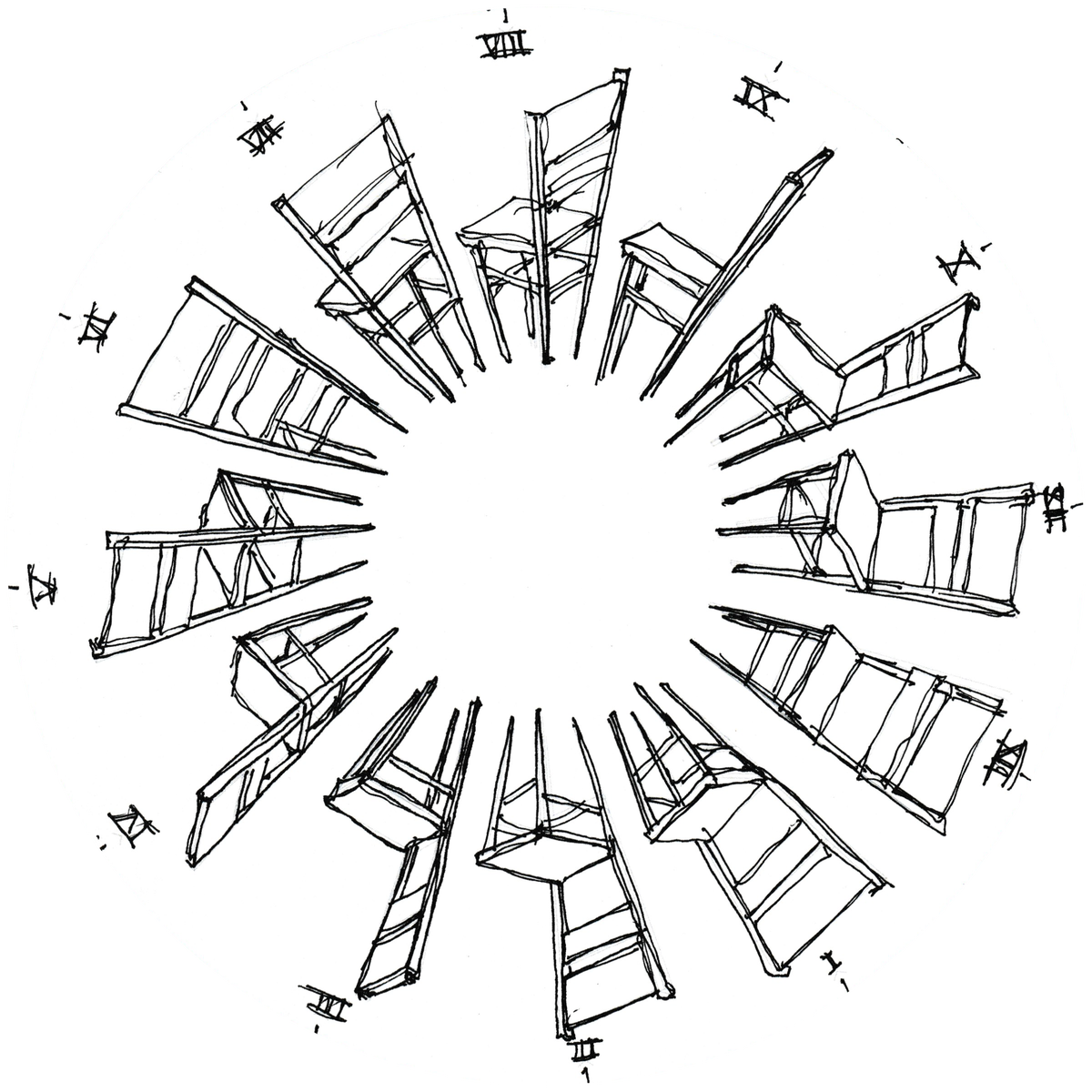 Image of Augmented Phenakistoscope: Sit Draw