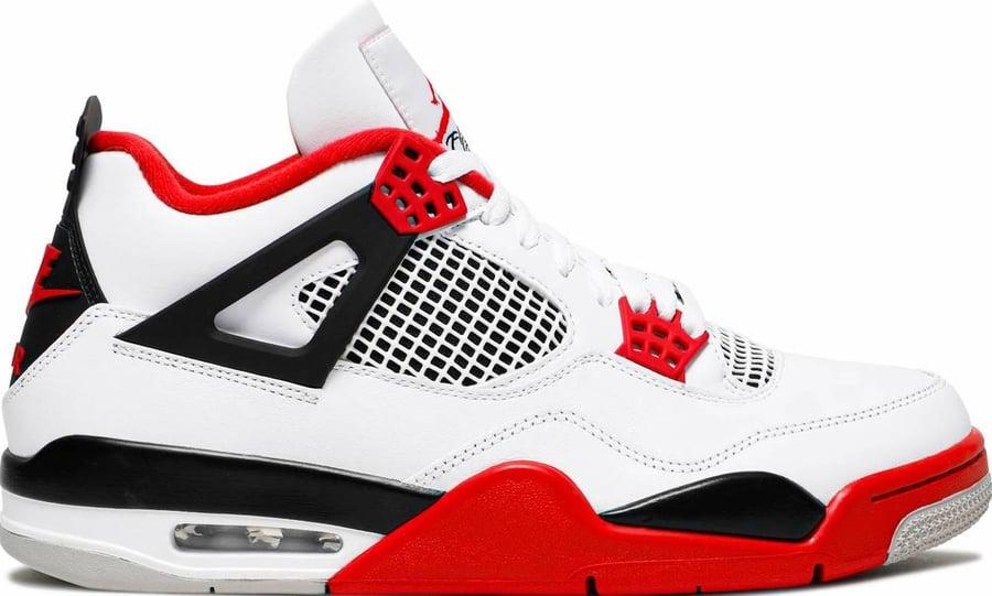 """Image of Nike Retro Air Jordan 4 """"Fire Red"""""""