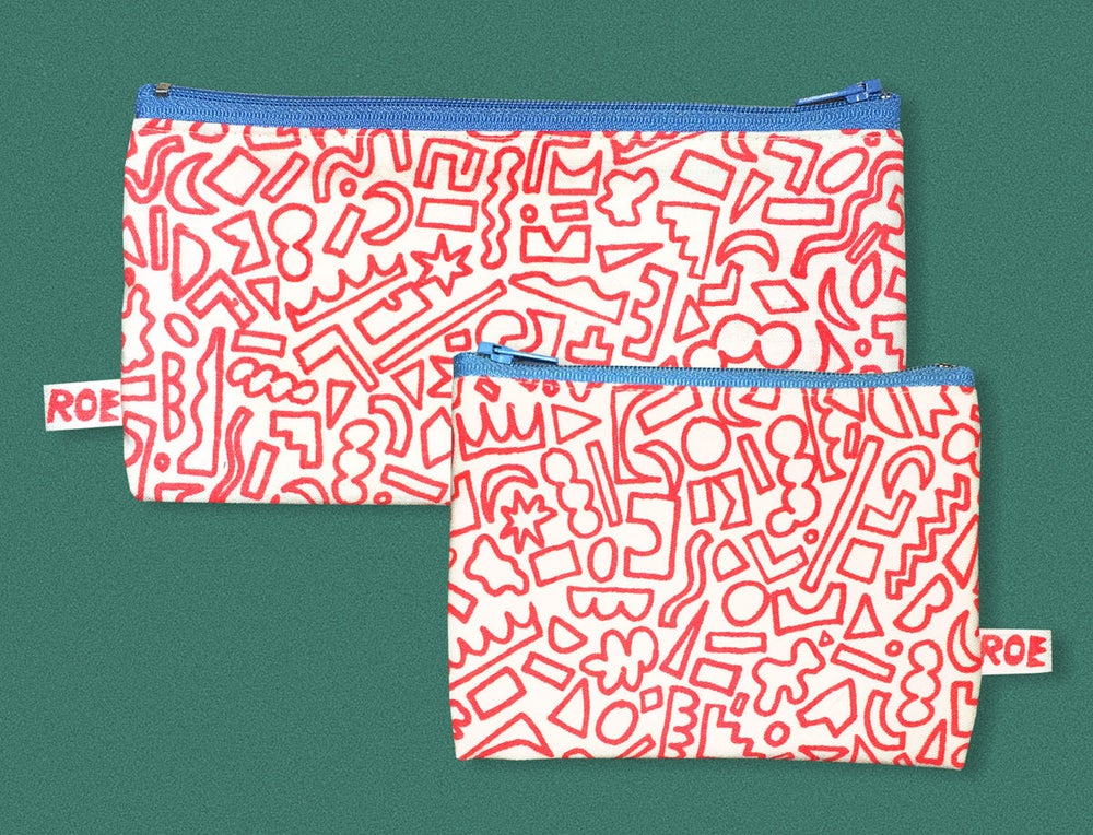 Image of RED SHAPES POCKET