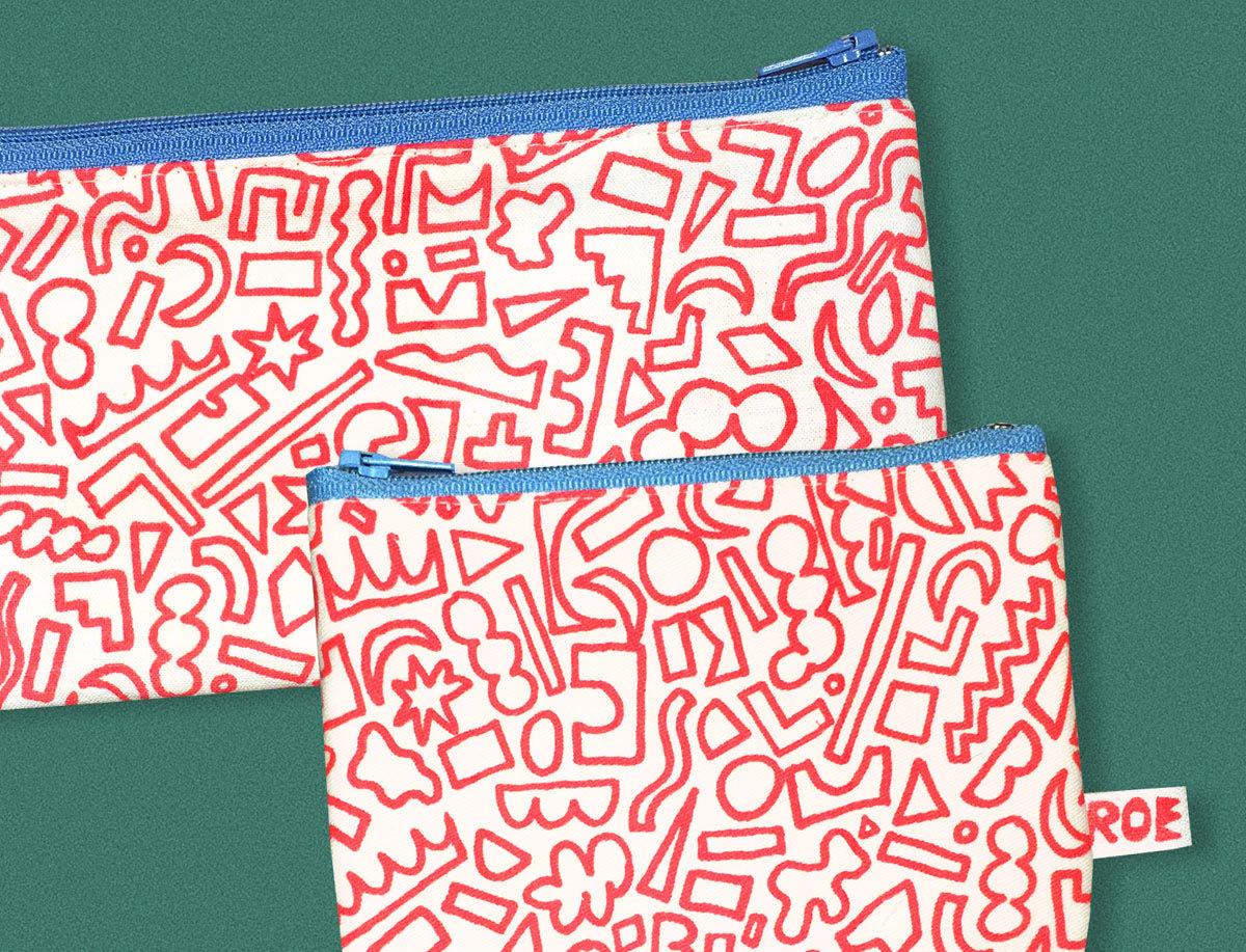Image of RED SHAPES POCKET