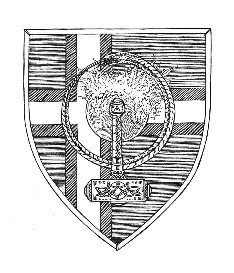 Image of WISDOM - Coat of arms original artwork (Norway)