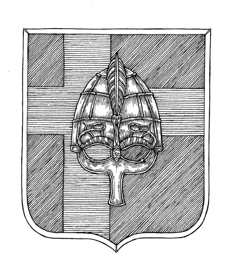 Image of WISDOM - Coat of arms original artwork (Sweden)