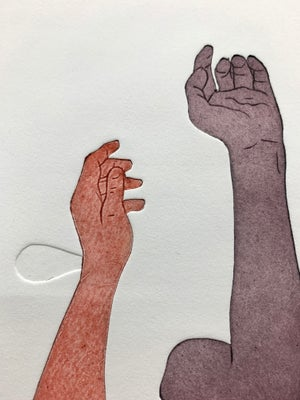 Image of Art print - All about hands