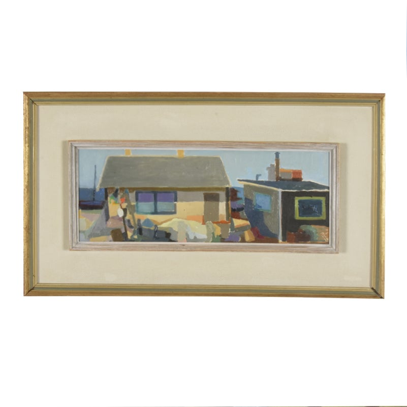Image of 1960, Swedish Painting, Fisherman's Cabin, Ragnor Ring