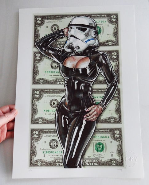 Image of Limited Matte Archival Print. Porn Trooper.