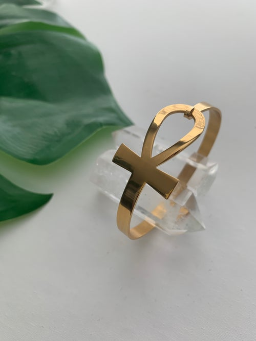 Image of ANKHARI • Ankh Bangle Bracelet