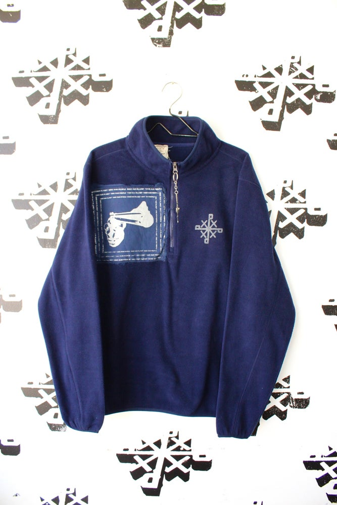 Image of save up pull over sweater in navy