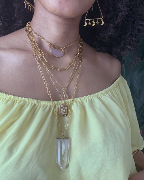 Image of LINK UP • Gold Layering Choker