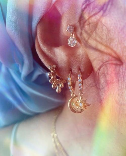 Image of COSMOSIS • Moon & Star Earrings