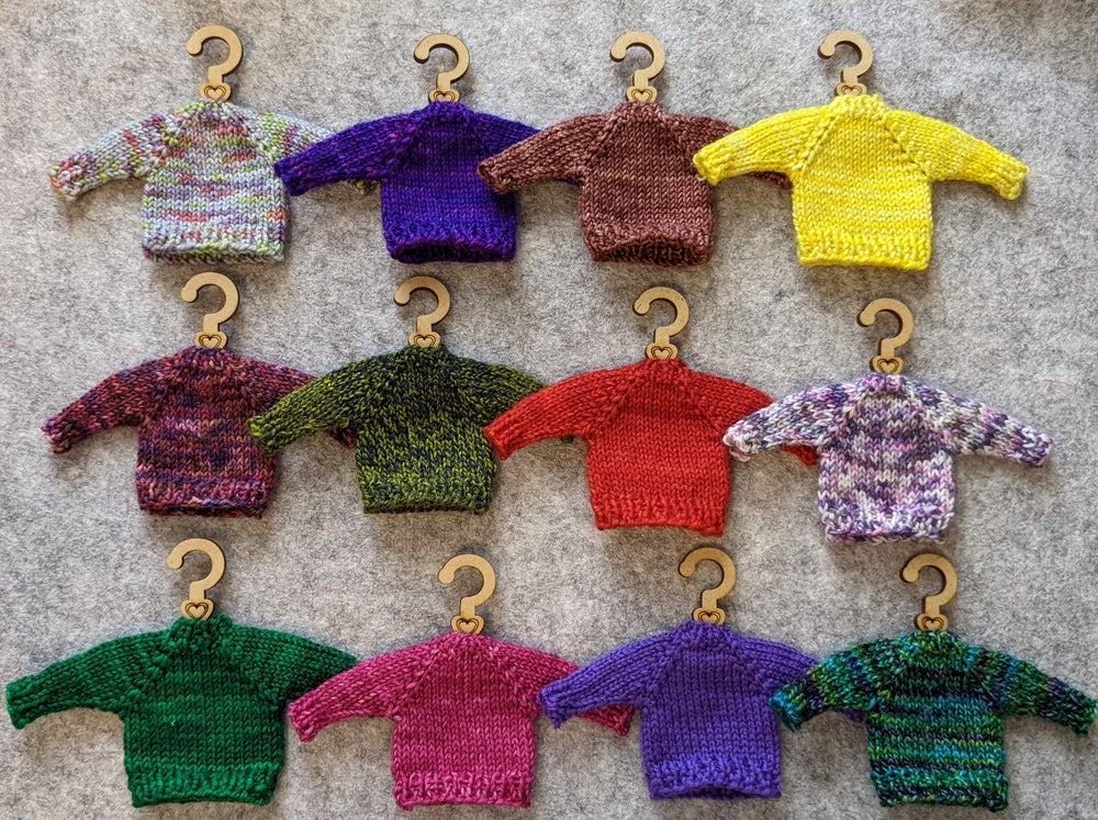 Image of Handknit Tiny Sweaters