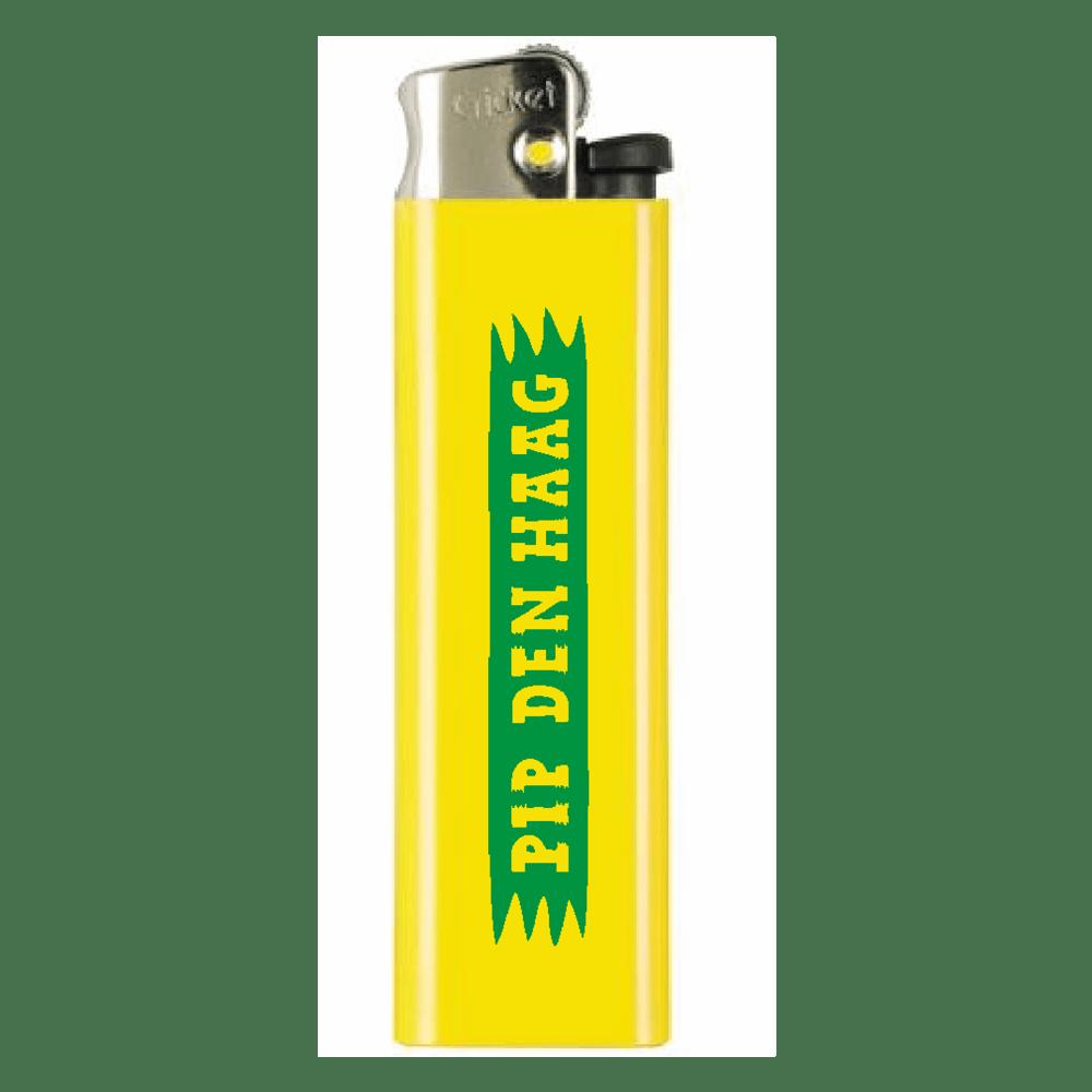 Image of PIP 'LOGO' LIGHTER | GREEN ON YELLOW
