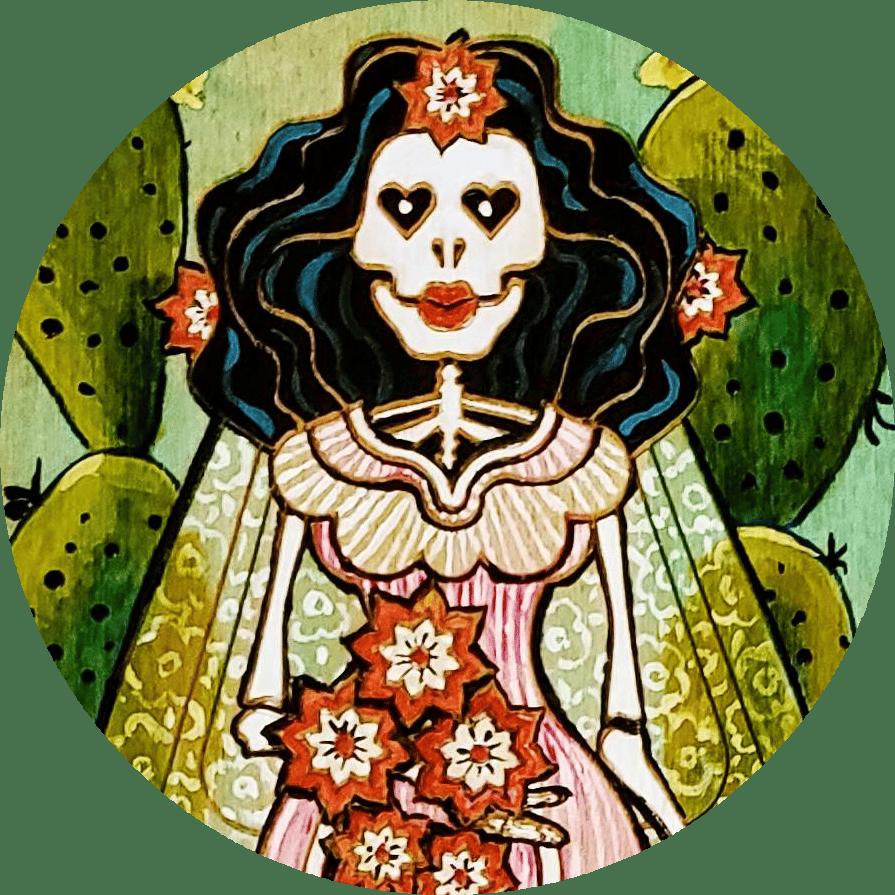Image of Cactus Bride sticker