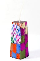 Image 1 of Mid Stack Tower in olive, magenta, brown, red, blue, white, clay pink, red, blue, green & grey