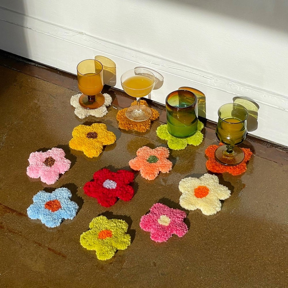 Image of Set of 4 coasters (assorted colors)