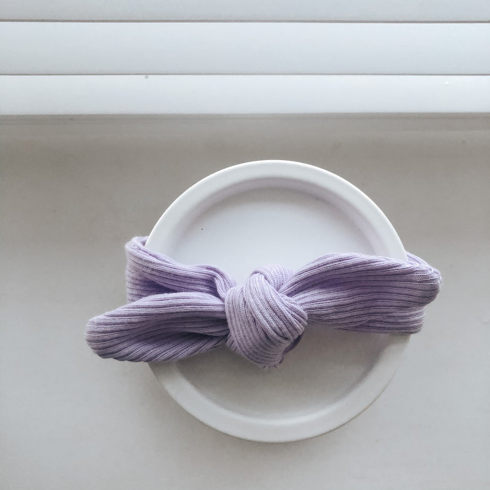 Image of Lilac ribbed neckerchief