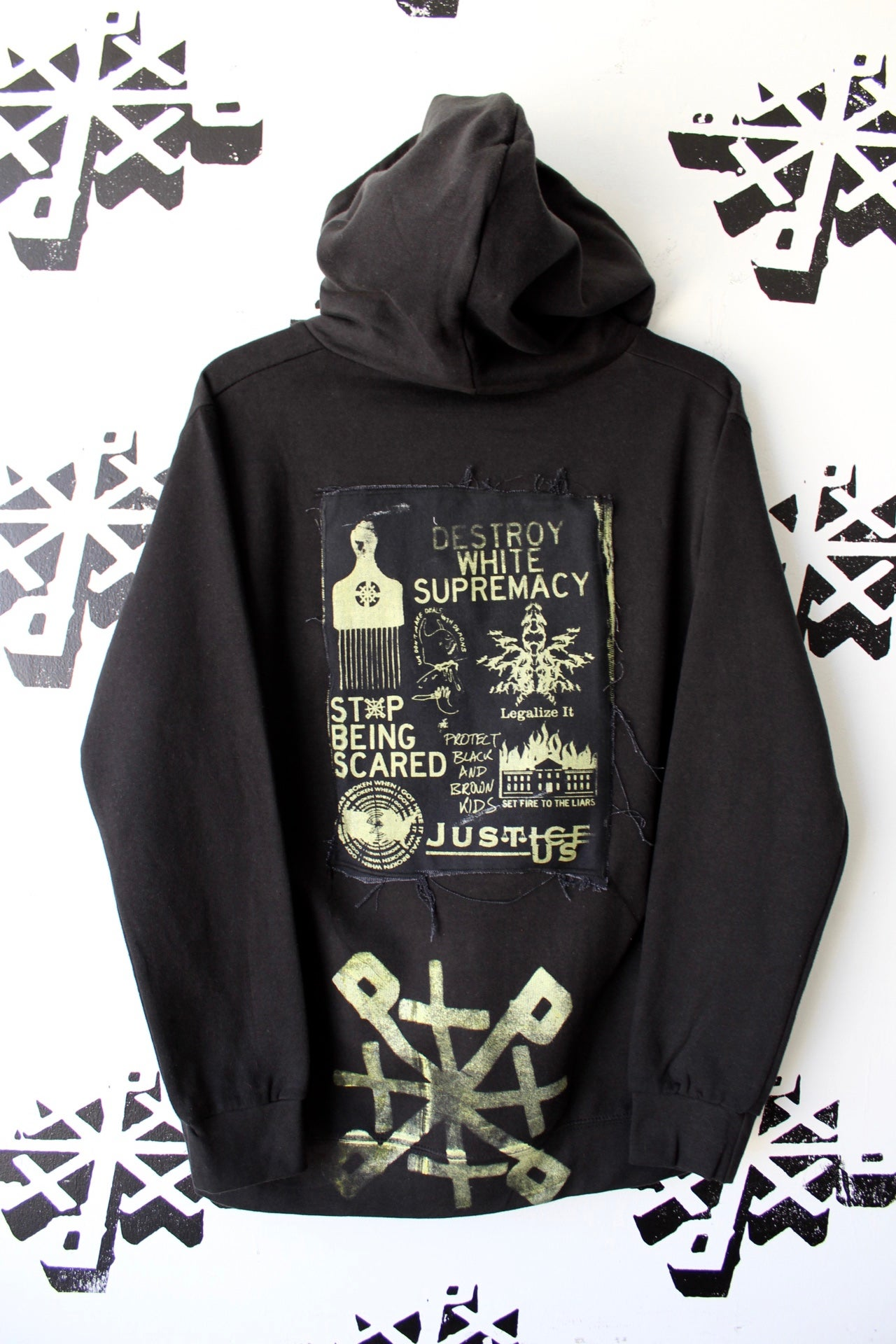 Image of not for the weak hearted hoodie in black