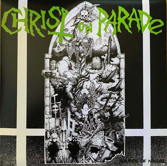"Image of Christ on Parade  ""Sounds of Nature"" LP  Green / black split LP"