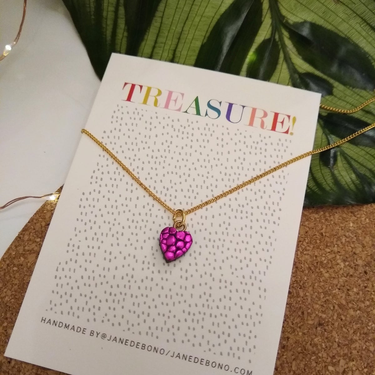 Image of Dotty L'amour Leather Heart Necklace
