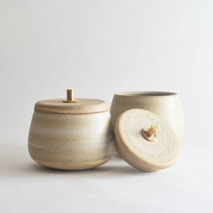 Image of stoneware canister