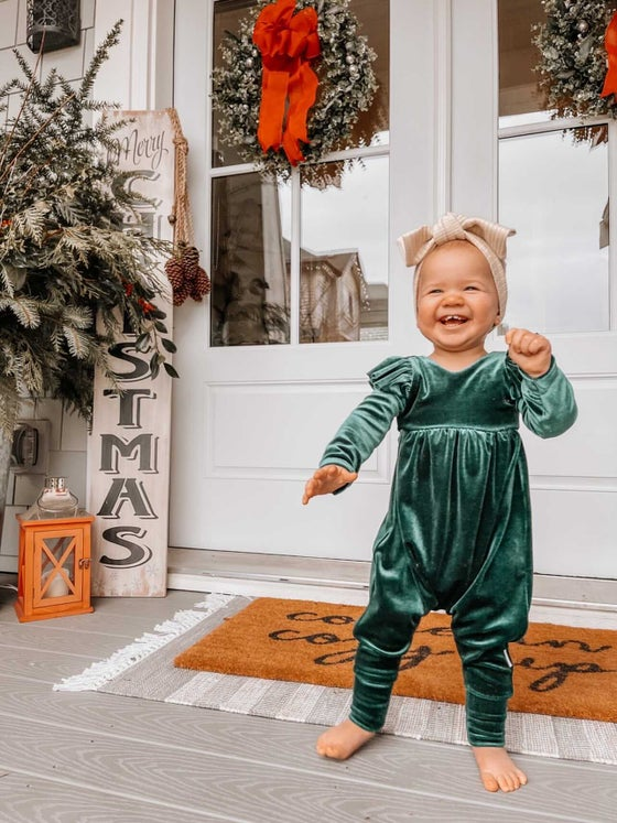 Image of Holiday Lenny Scoop Back Romper