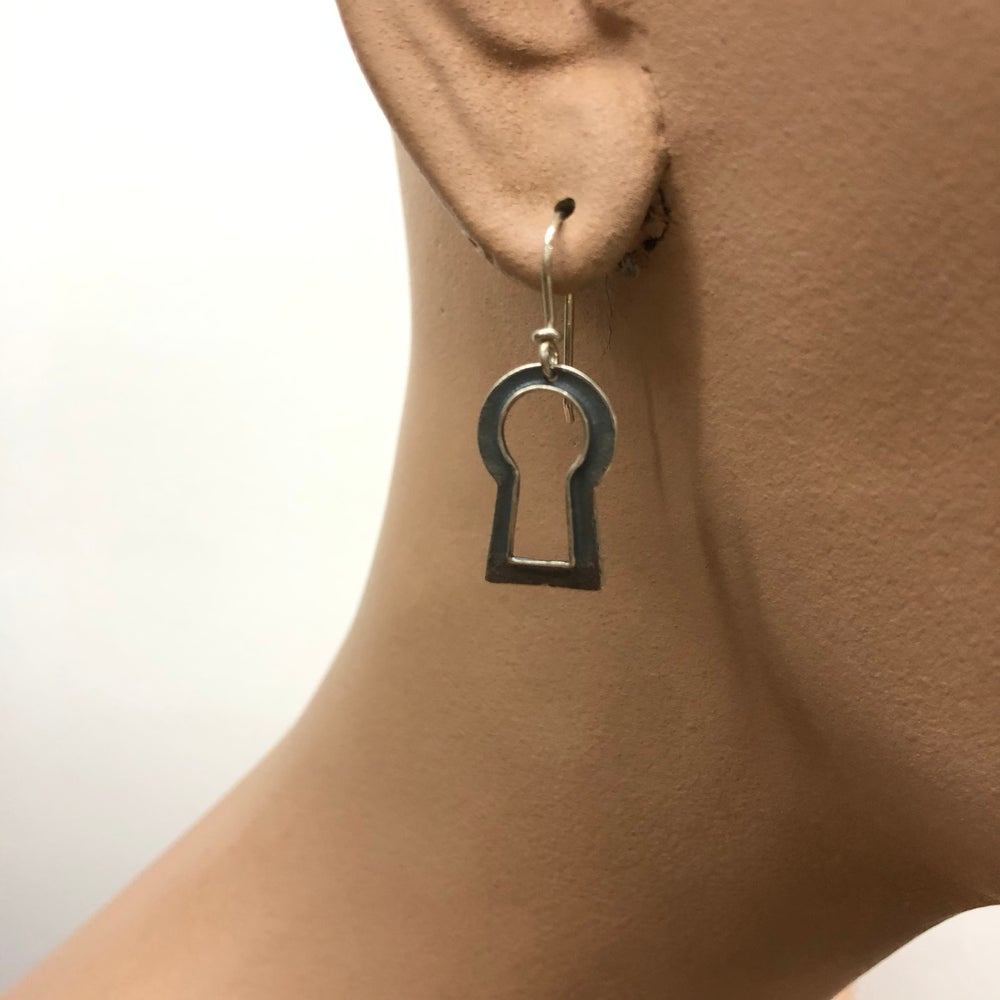 Image of vintage keyhole earrings