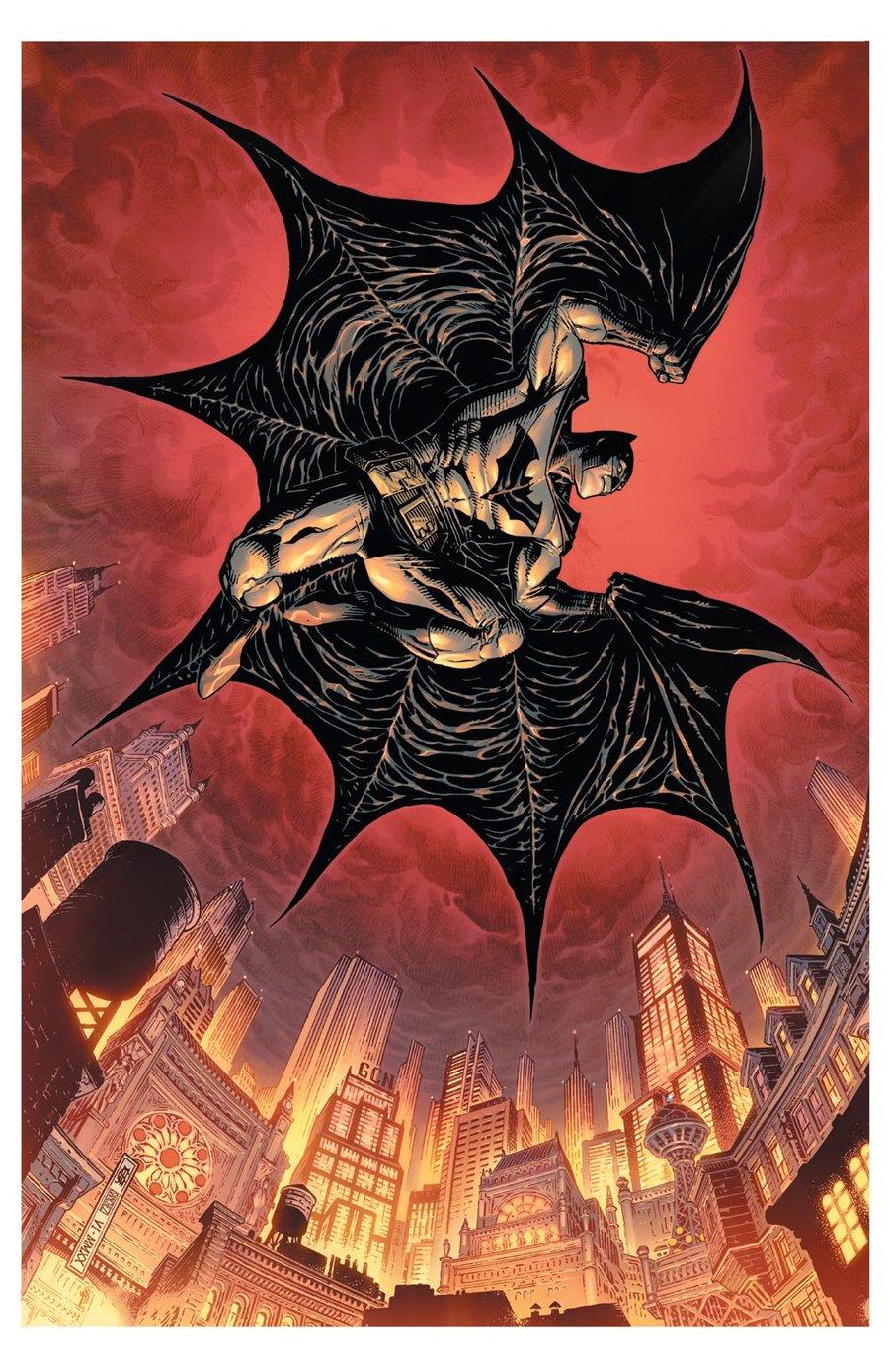 Image of BATMAN OVER GOTHAM Print