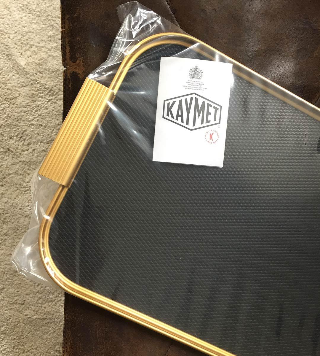 Image of Kaymet Tray Diamond, Black/Gold