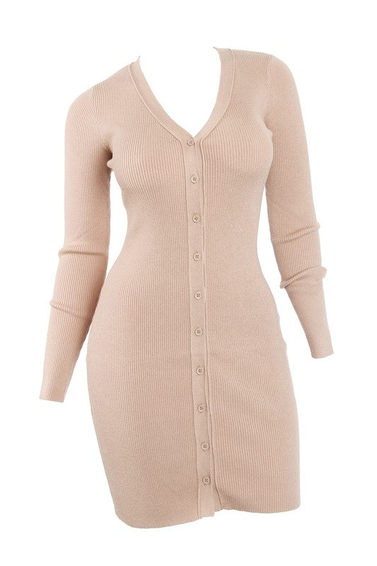Mocha Ribbed Dress