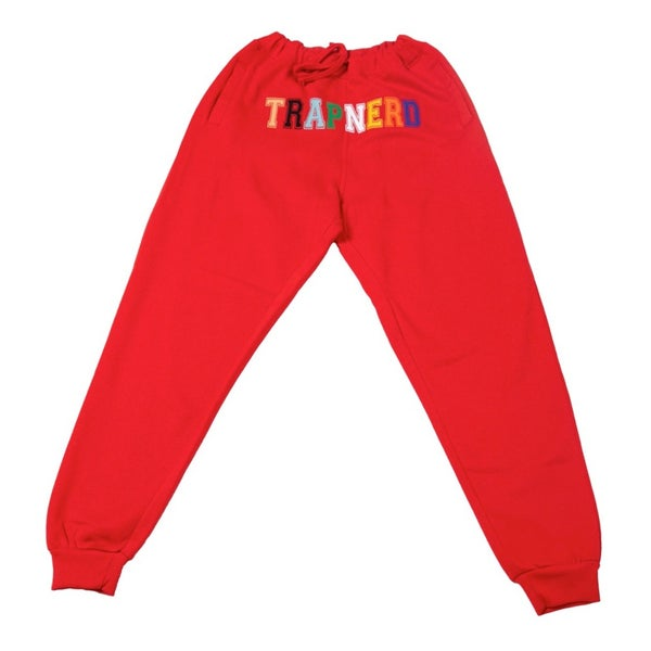 Image of TrapNerd Varsity Joggers (RED)