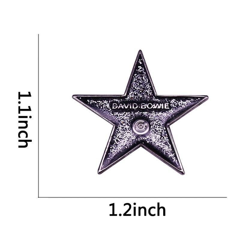 Blackstar Glitter Bowie Badge