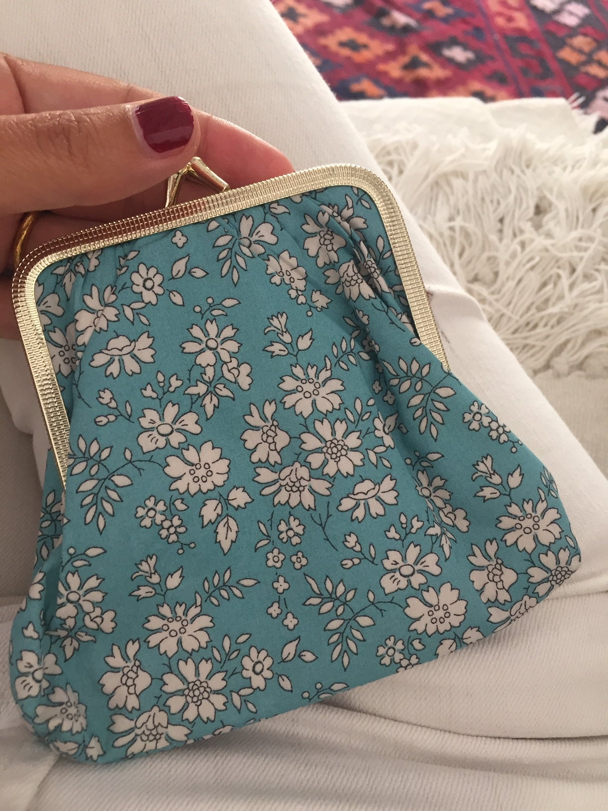 Image of Big coin purse * Tiny flowers * Sea