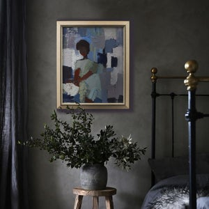 Image of Mid-century, Swedish, Abstract Painting of a Girl