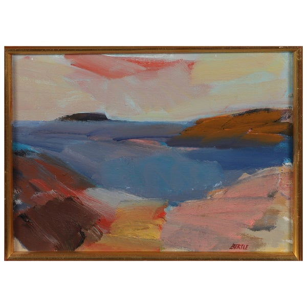 Image of 1960's Swedish Landscape Painting, Lars Bertle