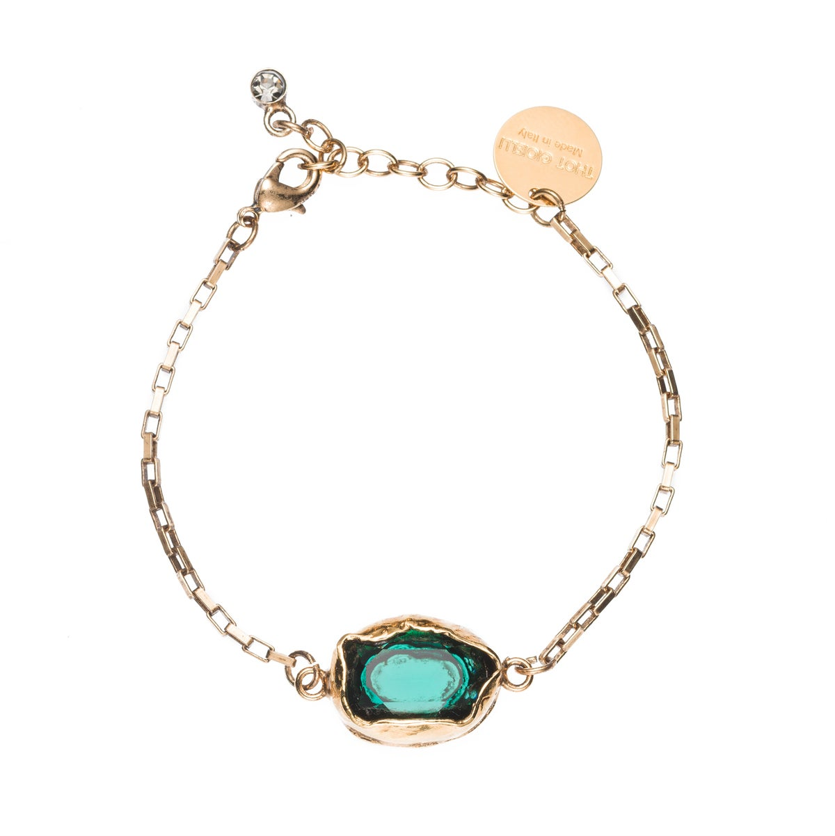 Image of BRACELET/ BRACCIALETTO BR110 GOLD EMERALD