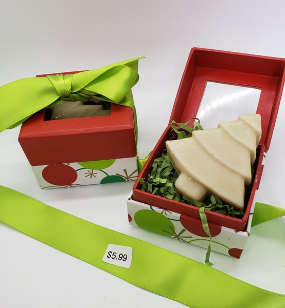 Image of Cypress and Bayberry Christmas Tree Gift Box