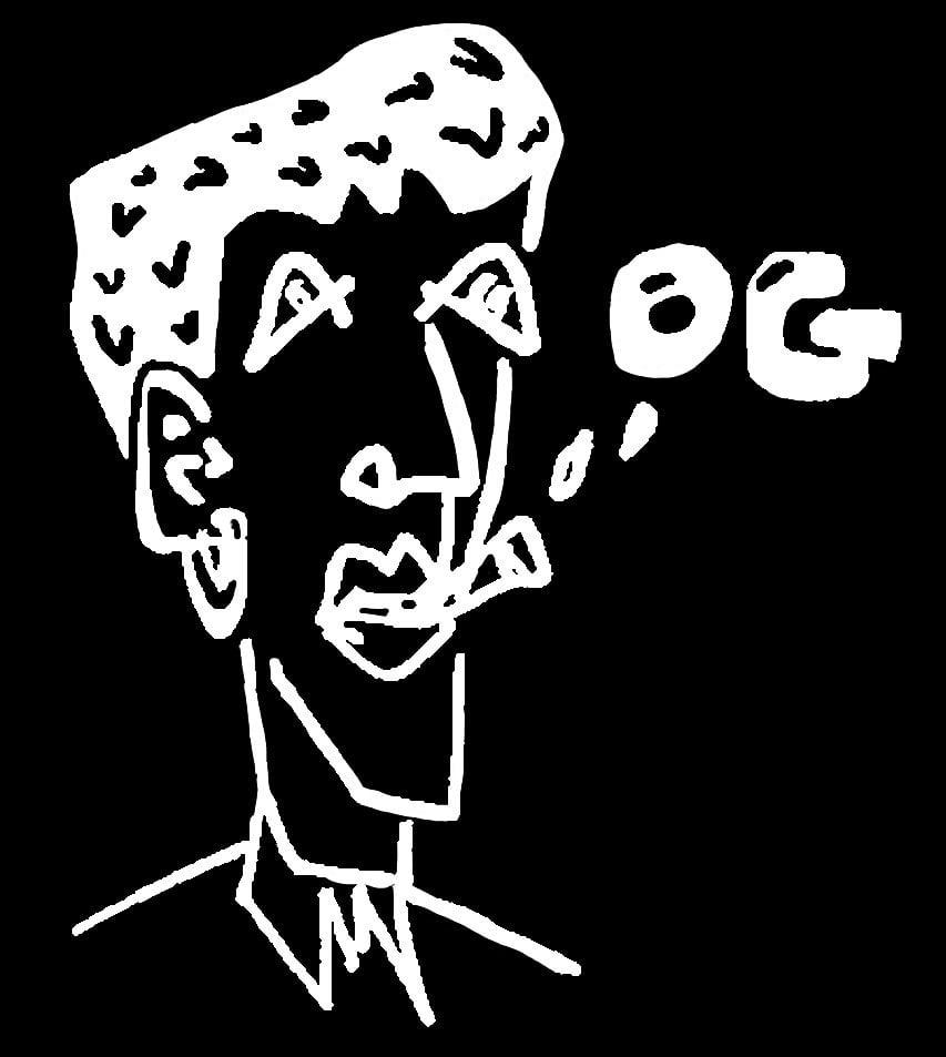 Image of BLACK 'OG' BEANIE
