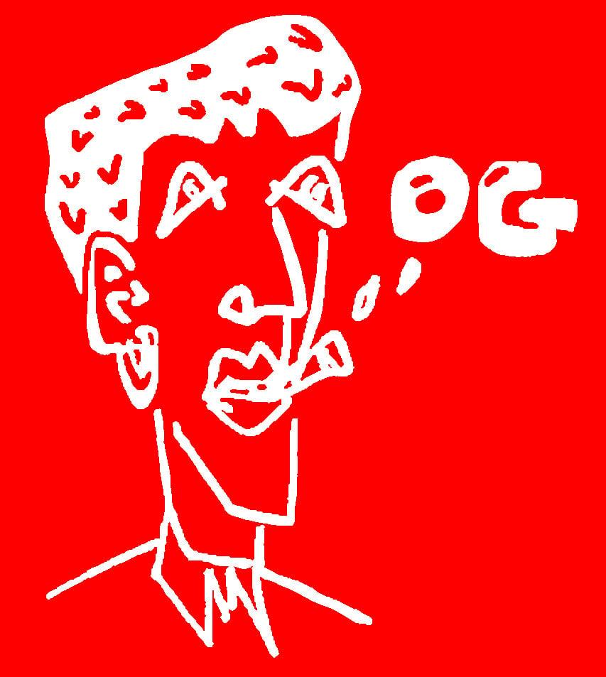 Image of RED 'OG' BEANIE