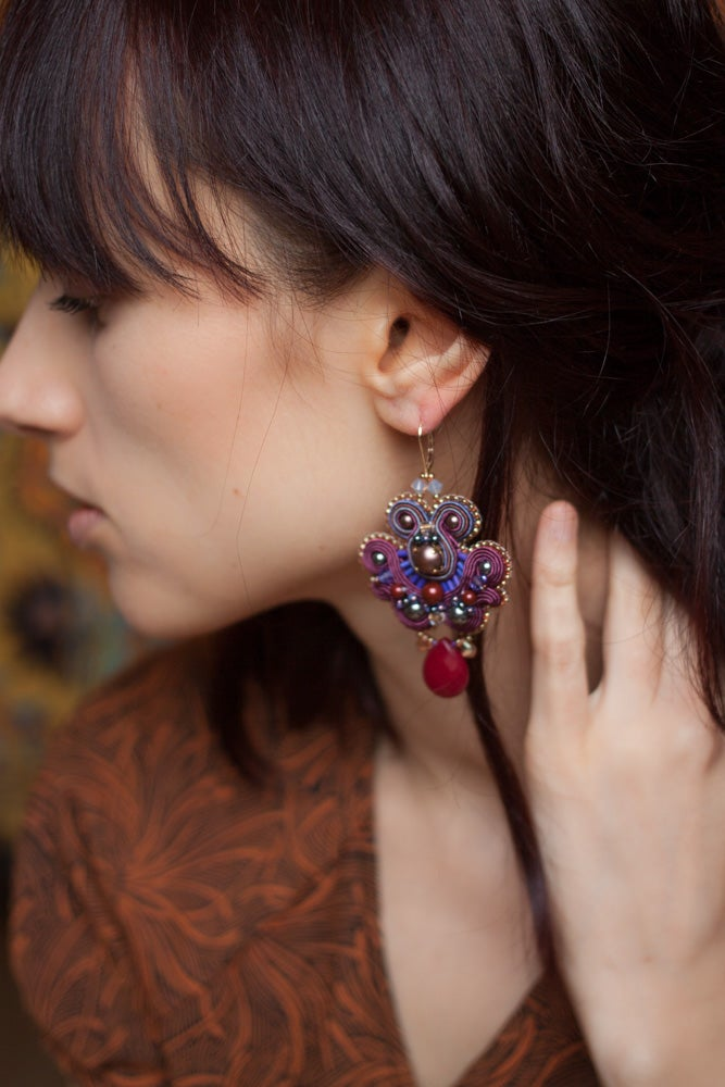 Image of Amal - Boucles brodées - Edition pearl