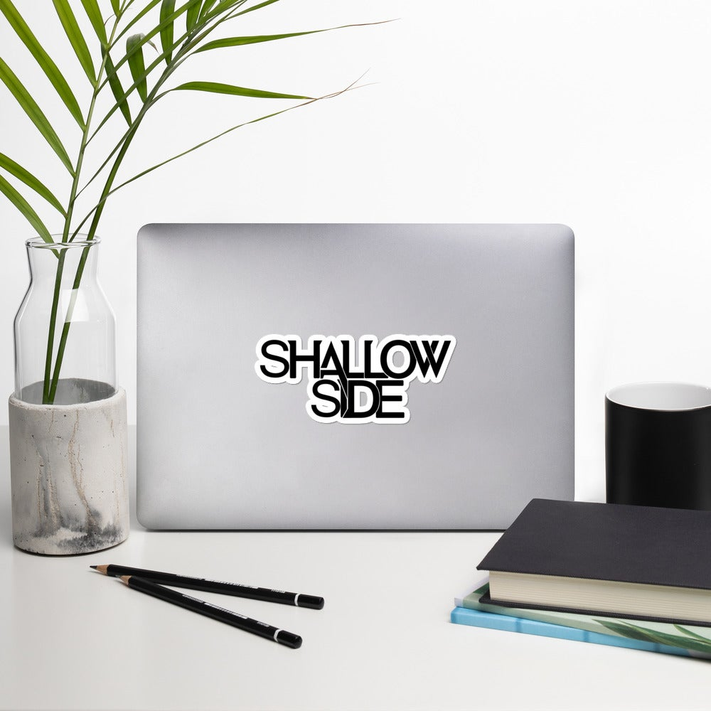 Shallow Side Black Logo Sticker
