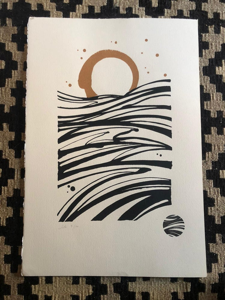 Image of Handmade serigraphy by Jota - Arches