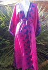 Katie Kimono Kaftan- hot pink and purple
