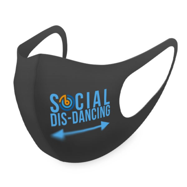 Blue Social Dis-Dancing Mask