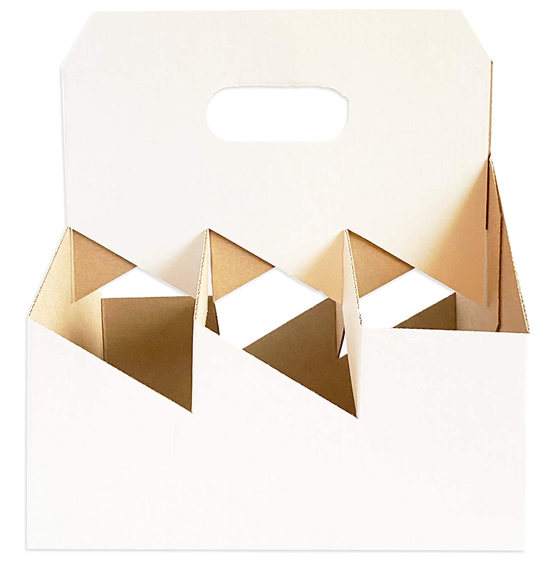 Image of 6 Pack White Wine Cardboard Carriers